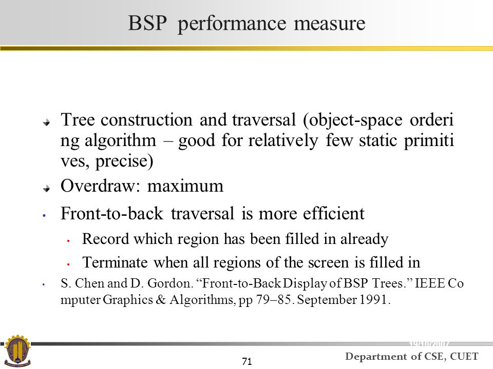 BSP performance measure