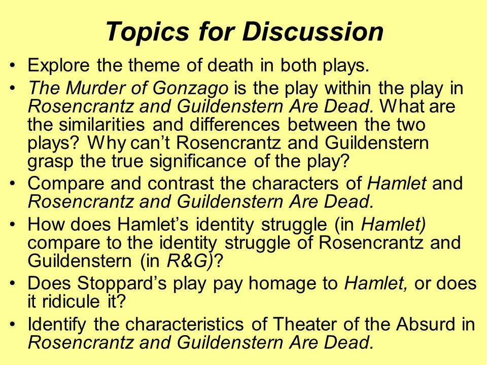 A focus on rosencrantz and guildenstern in the play hamlet