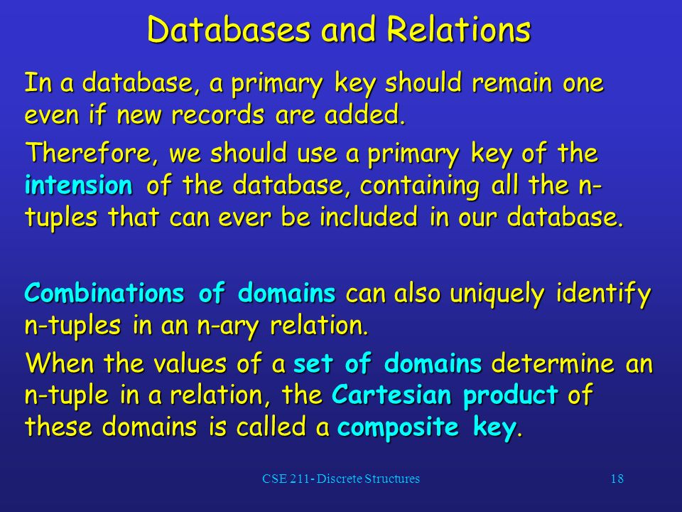 Databases and Relations