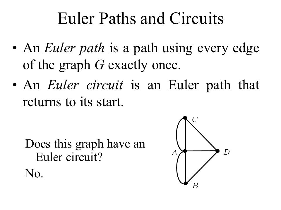 Euler Paths and Circuits