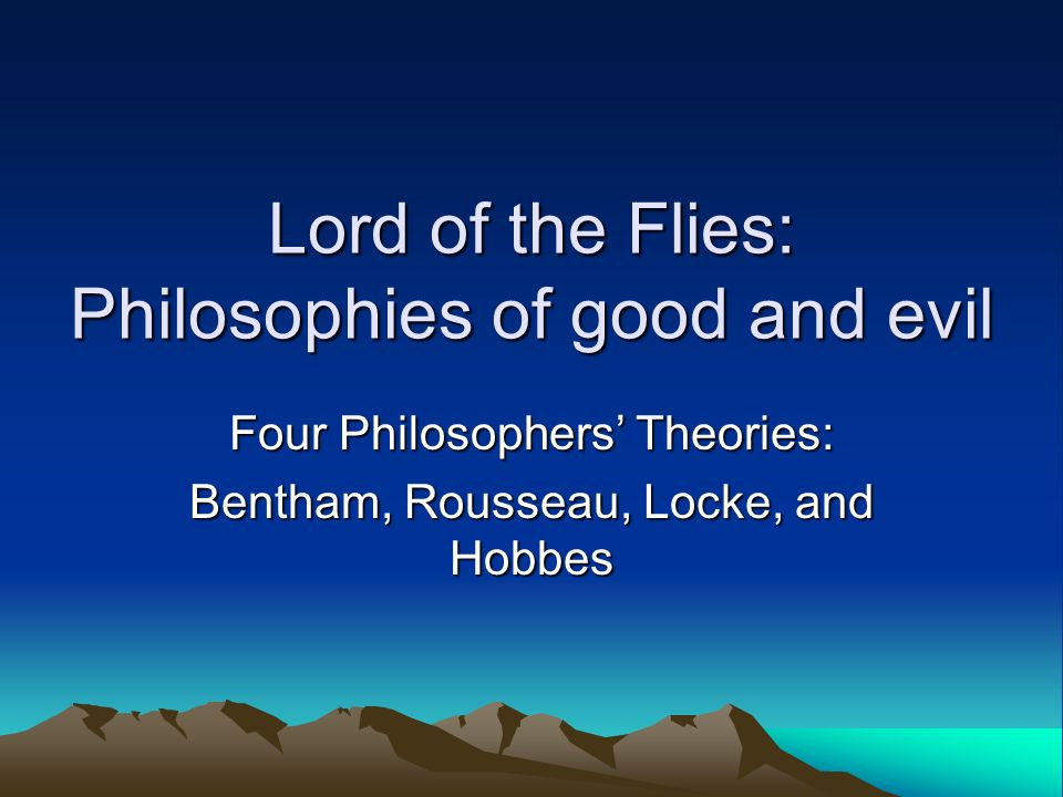 lord of the flies essays on good vs evil Lord of flies (evil nature) human nature in lord of the flies – essay  lord of the flies (men are inherently evil) good vs evil – lord of the flies.