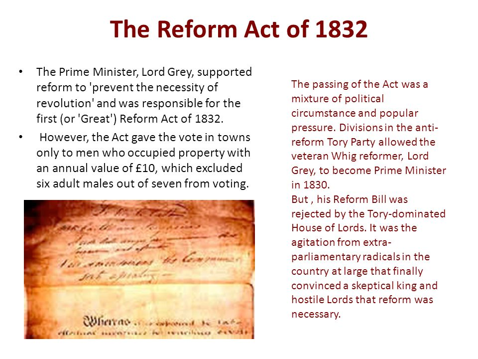 The 1832 Reform Act