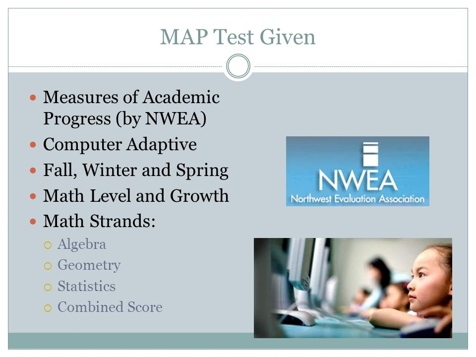 MAP Test Given Measures of Academic Progress (by NWEA)