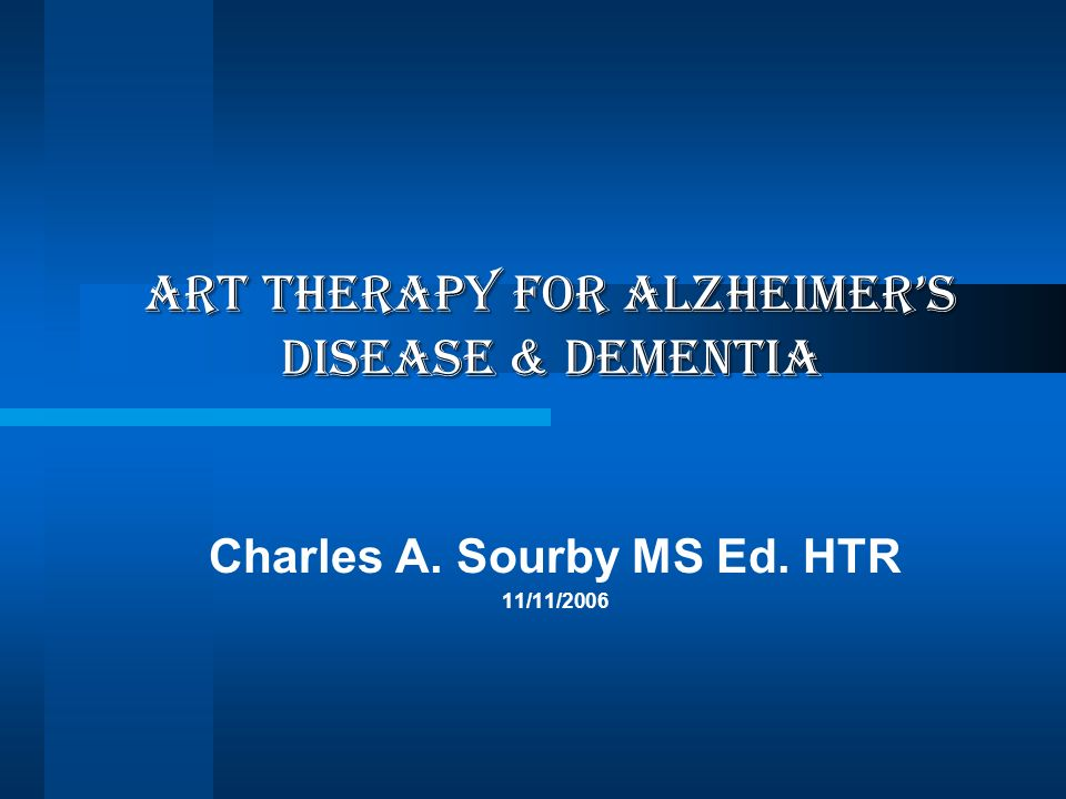 ART THERAPY FOR Alzheimer's disease & dementia