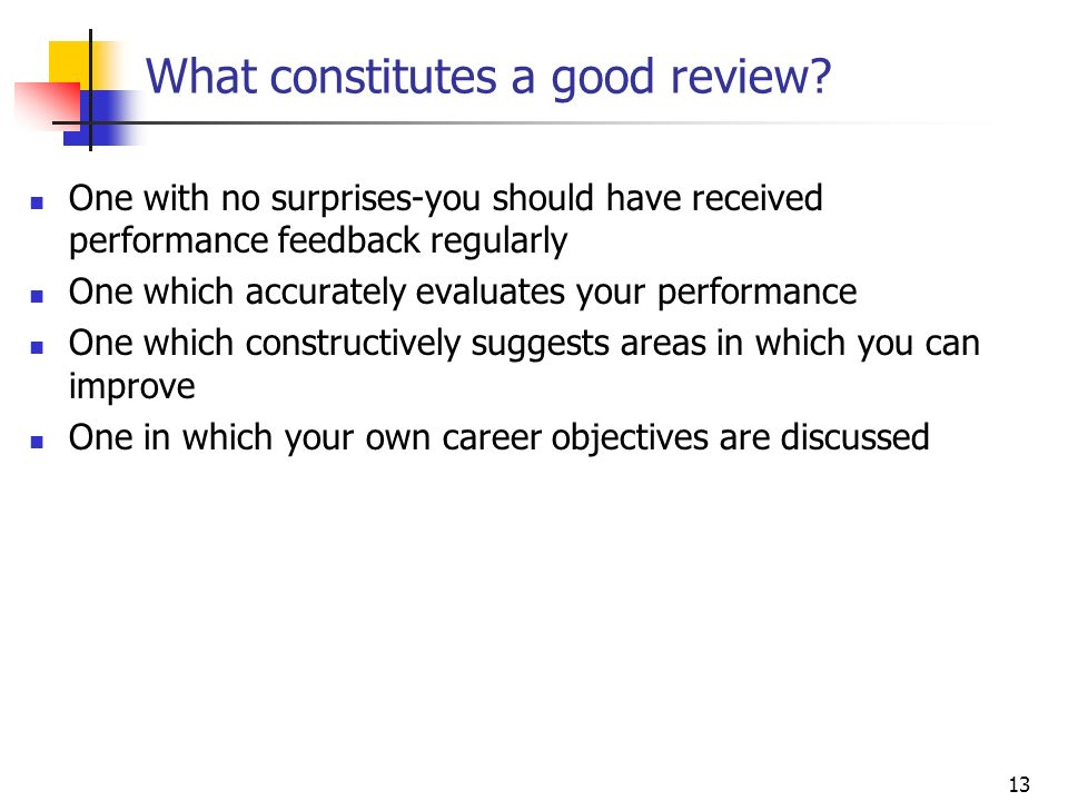 What constitutes a good review