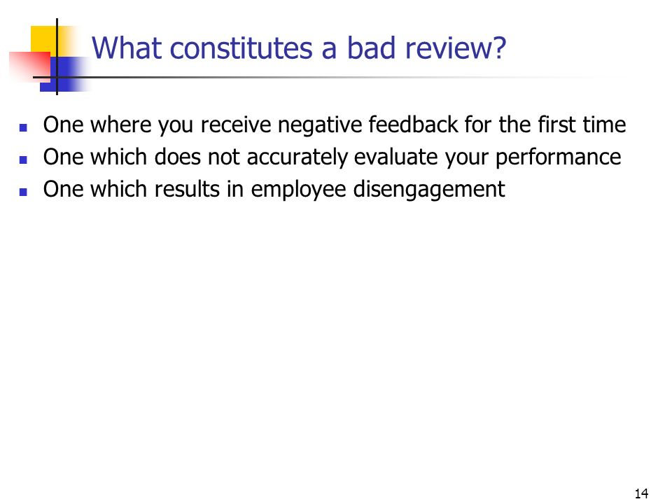 What constitutes a bad review
