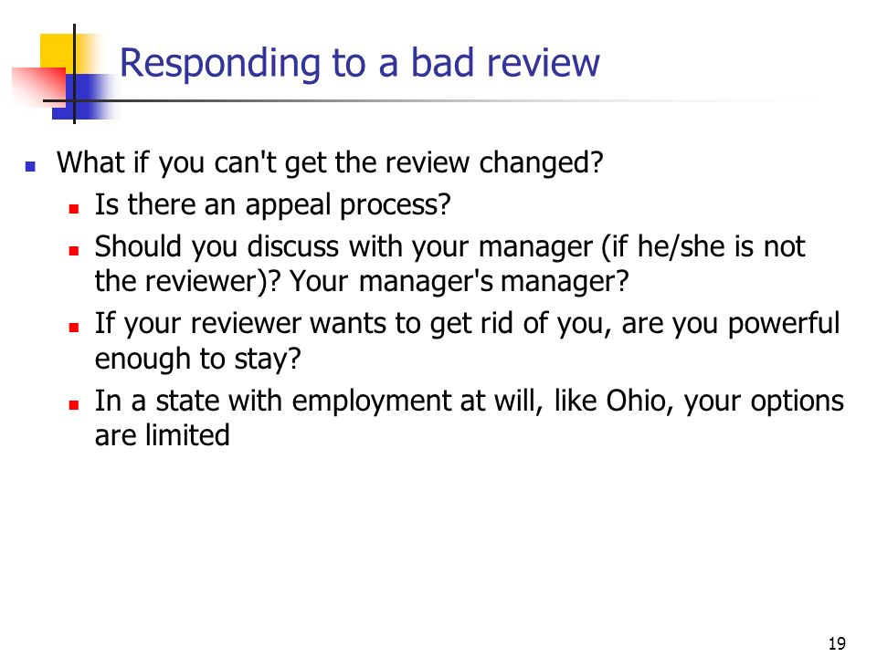 Responding to a bad review