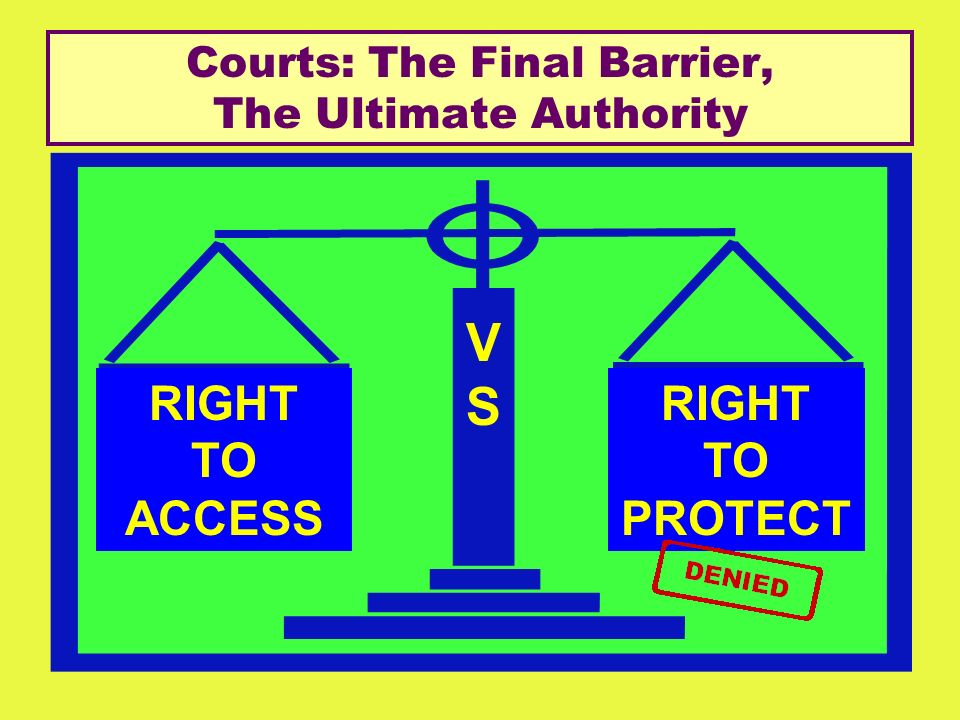 Courts: The Final Barrier, The Ultimate Authority