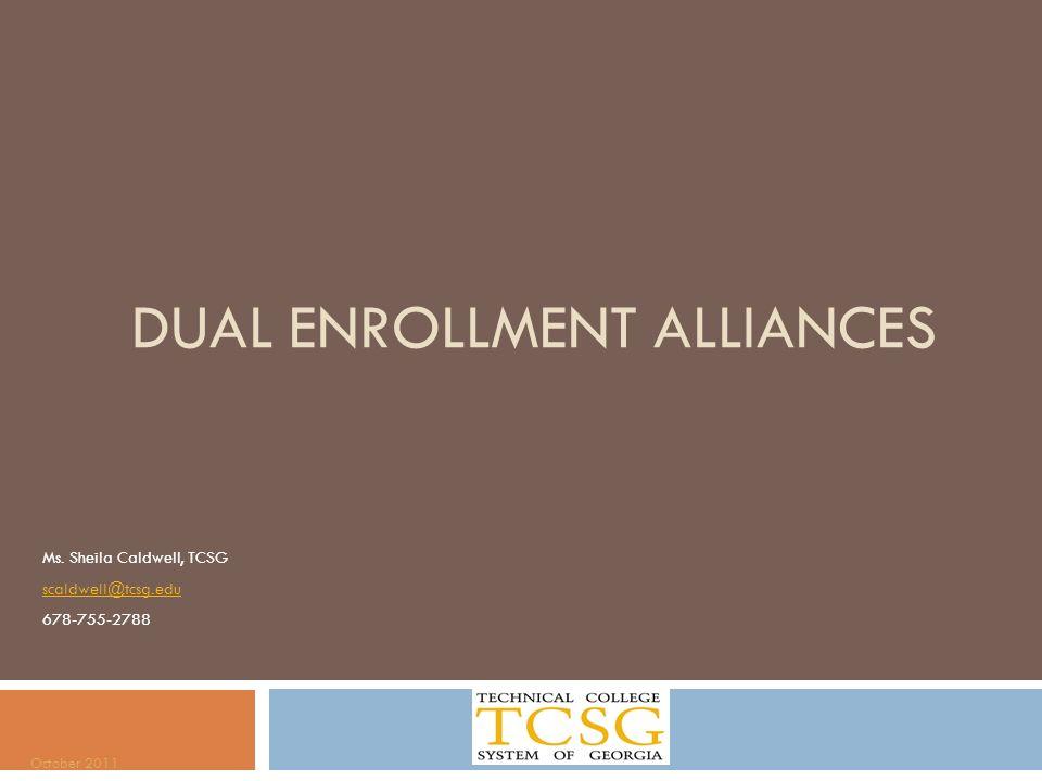 Dual enrollment alliances