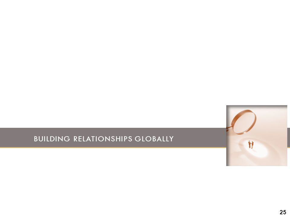 Building Relationships globally