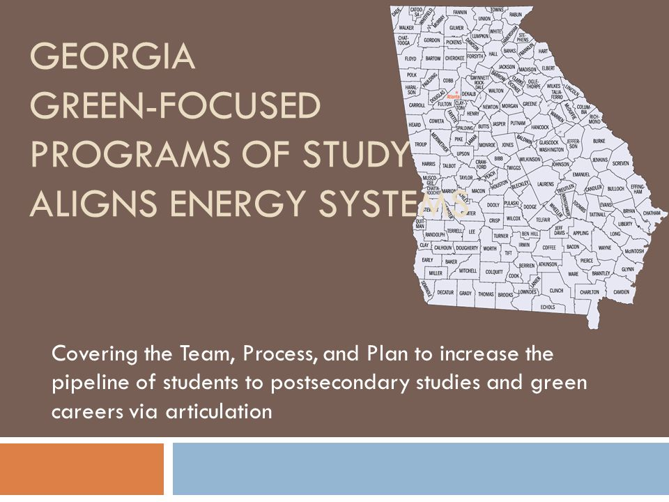 Georgia Green-focused Programs of Study aligns Energy Systems