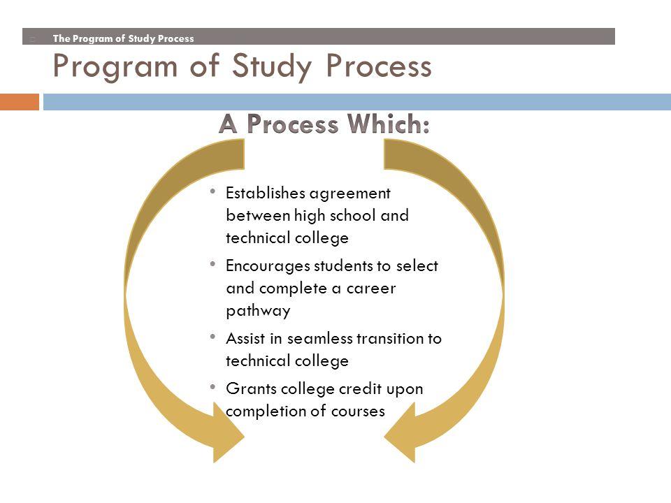 Program of Study Process