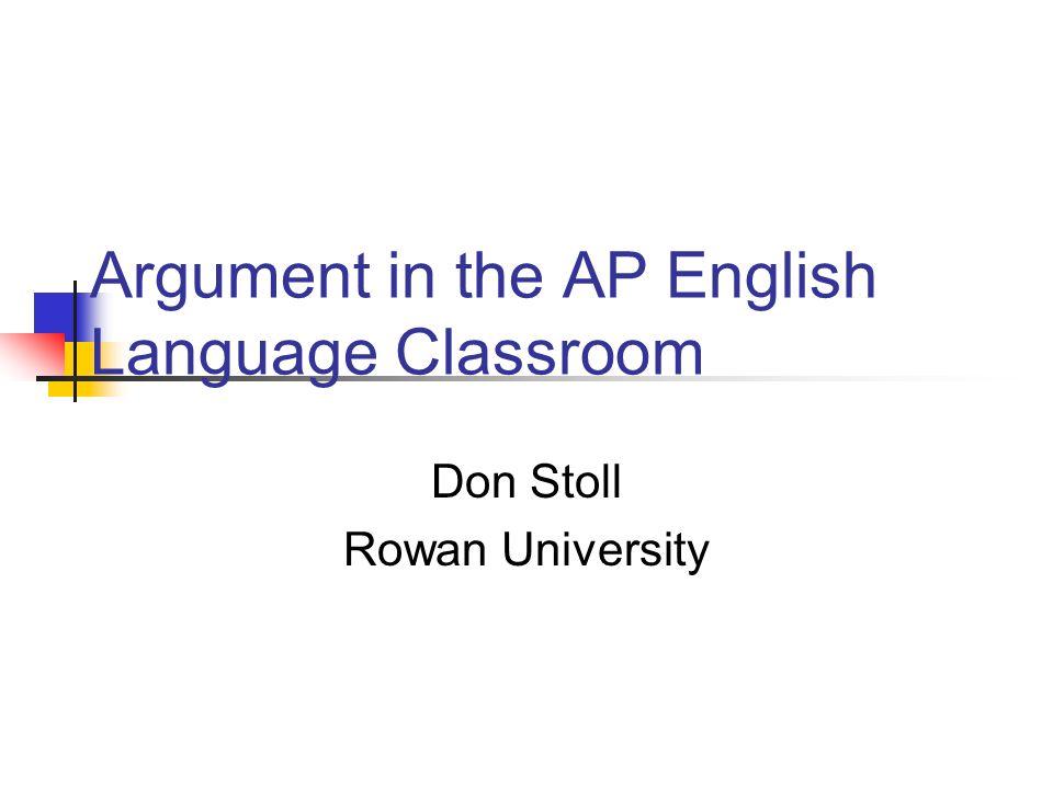 english argument