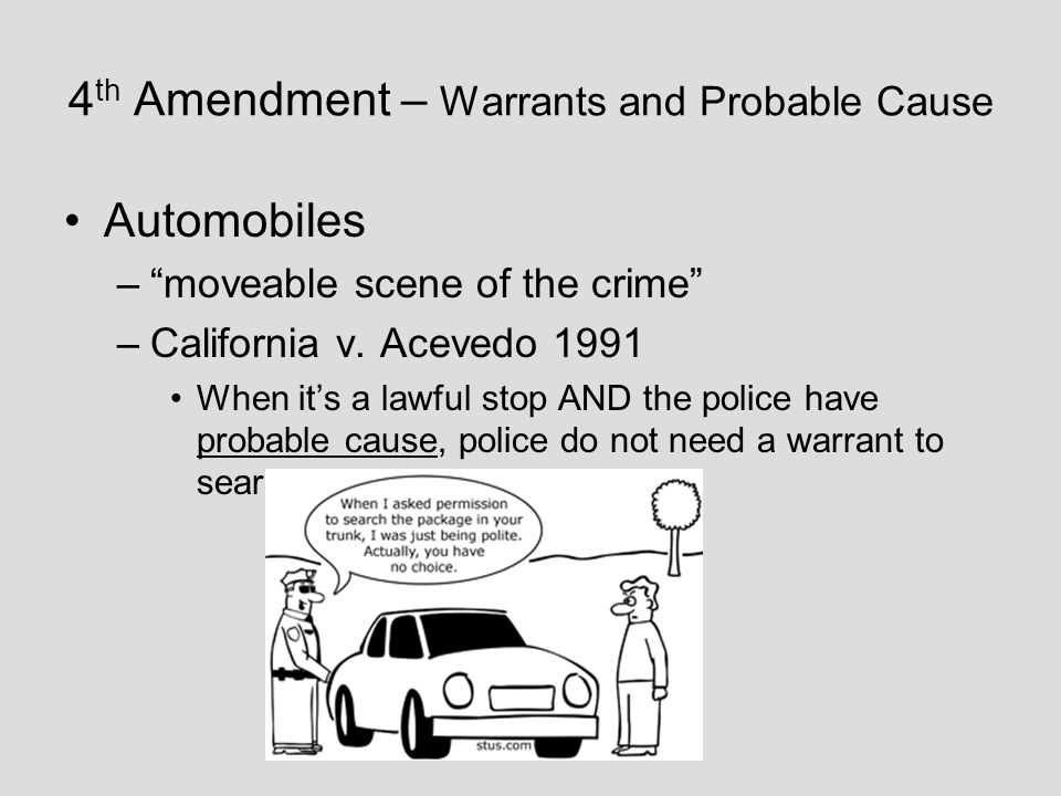 search warrants and probable cause In united states criminal law, probable cause is the standard by which police authorities have reason to obtain a warrant for the arrest of a.