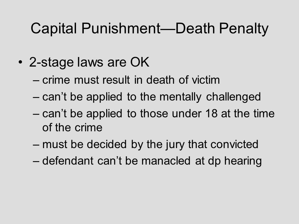 capital punishment and death penalty statutes States with the death penalty  most states in the us passed new capital punishment statutes the death penalty's legality was confirmed in 1976 by the us court.