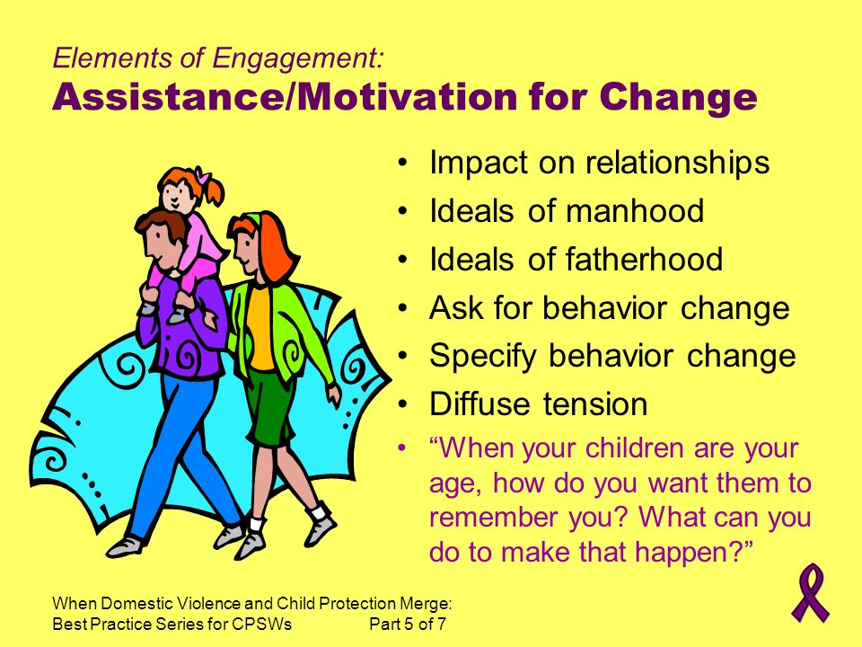 Elements of Engagement: Assistance/Motivation for Change