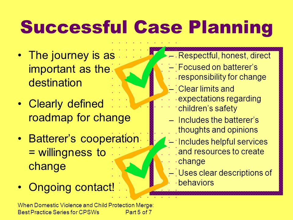 Successful Case Planning