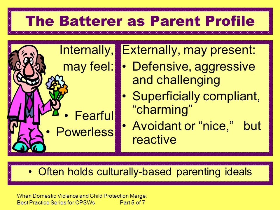 The Batterer as Parent Profile