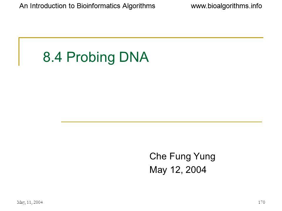 8.4 Probing DNA Che Fung Yung May 12, 2004