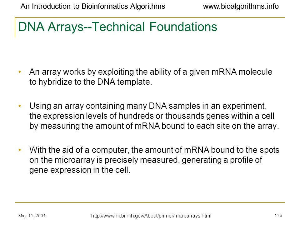 DNA Arrays--Technical Foundations