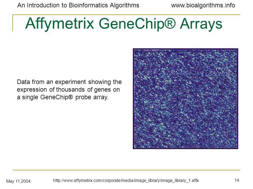 Affymetrix GeneChip® Arrays