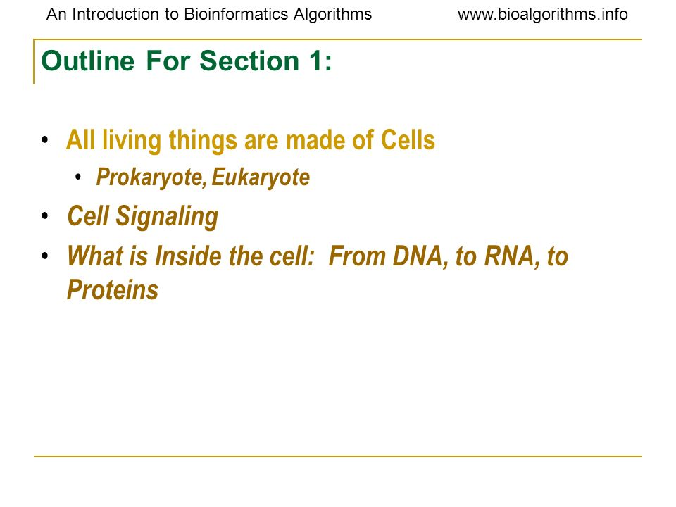 All living things are made of Cells Cell Signaling