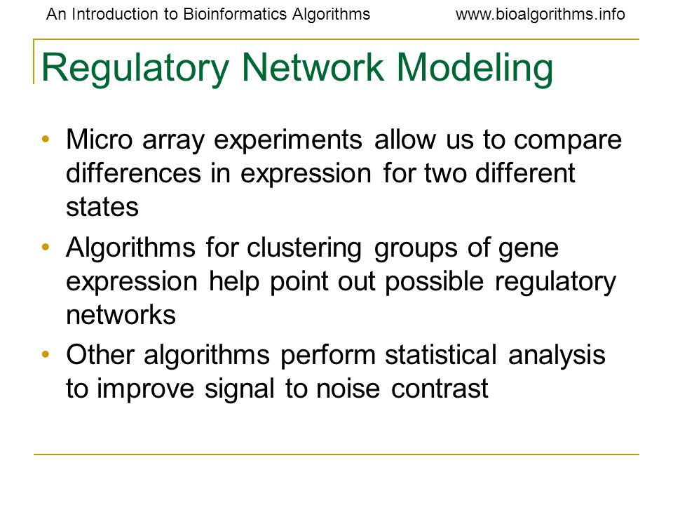 Regulatory Network Modeling