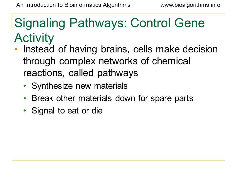 Signaling Pathways: Control Gene Activity