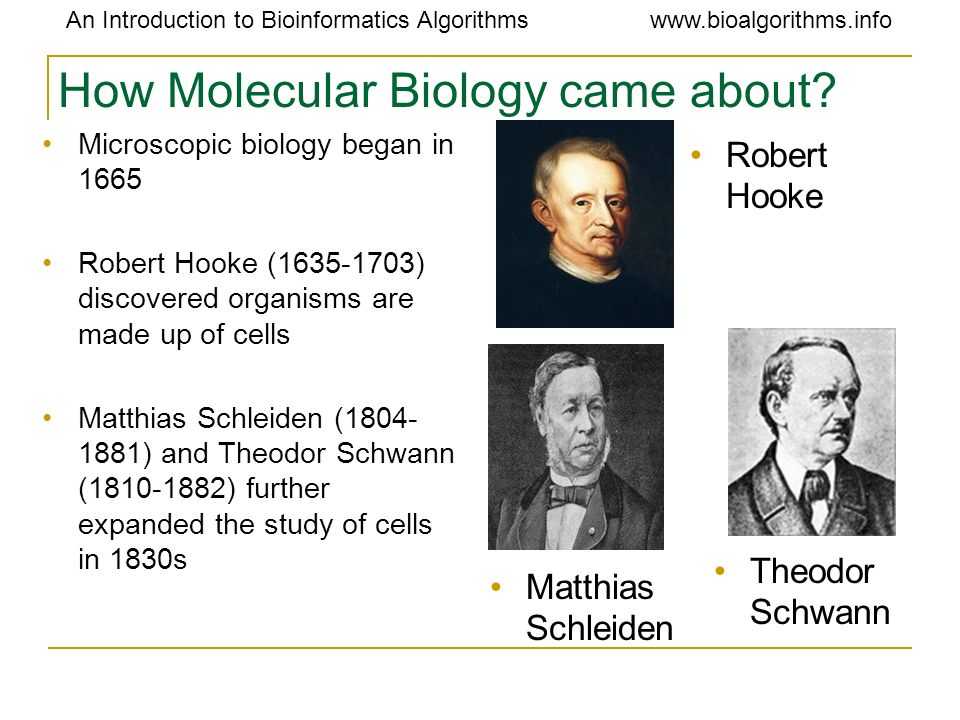 How Molecular Biology came about