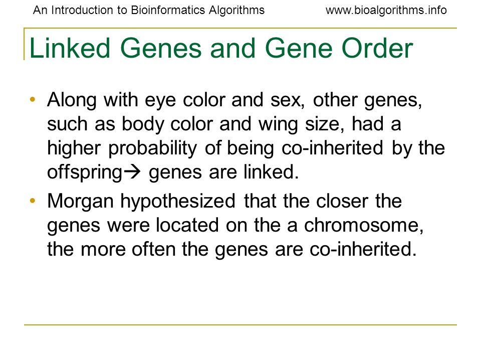 Linked Genes and Gene Order