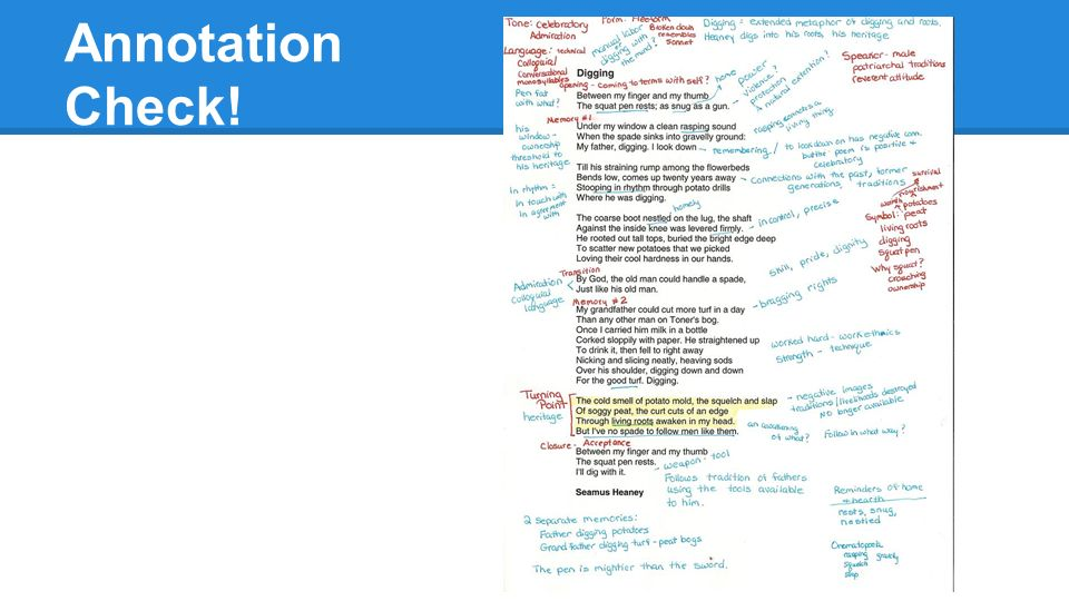 get out your springboard book ppt   amy tan s two kinds and annotate the text 14 annotation check