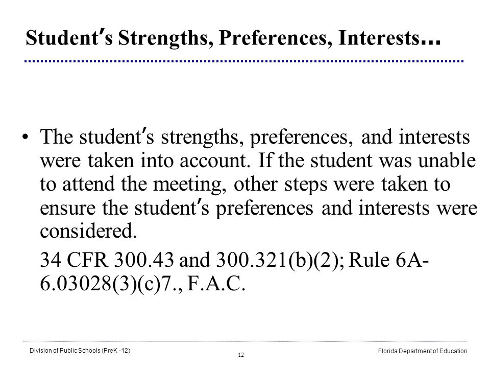 Student's Strengths, Preferences, Interests…