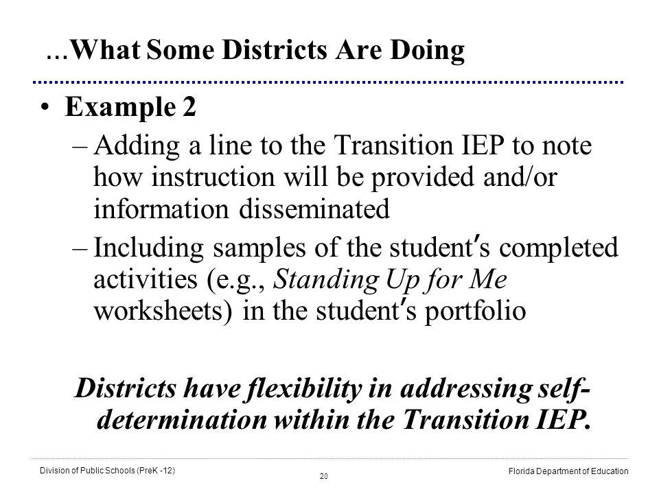 …What Some Districts Are Doing