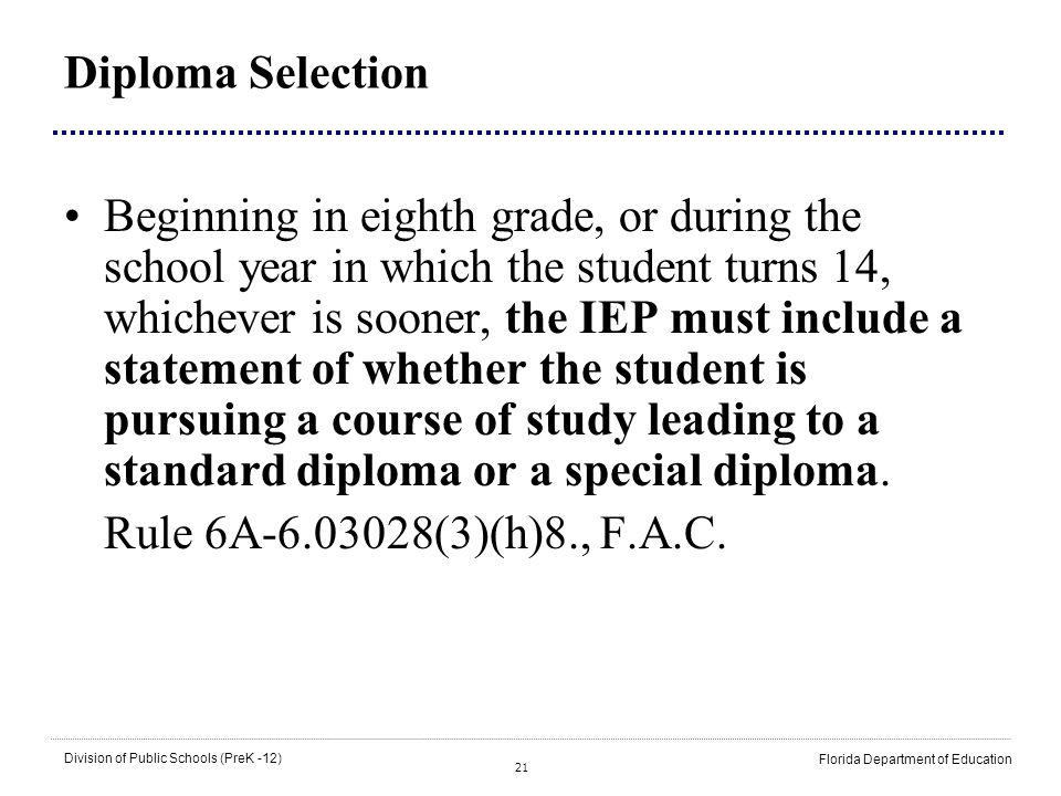 Diploma Selection