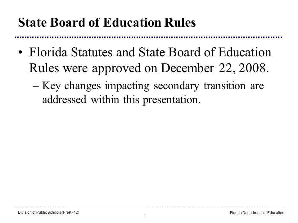 State Board of Education Rules