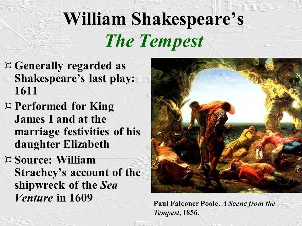 th themes of music and magic in william shakespeares the tempest Chose the act & scene from the list below to read the tempest translated into modern english: twitter reading the original text of shakespeare's the tempest.