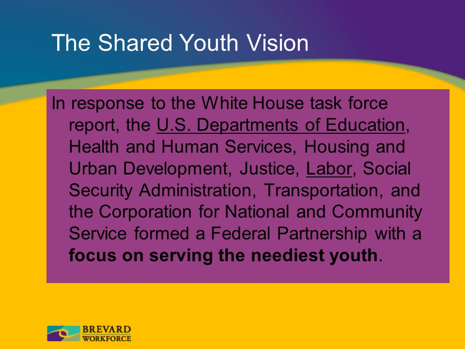 The Shared Youth Vision