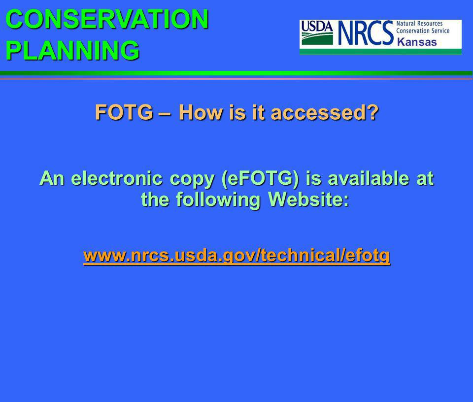 FOTG – How is it accessed