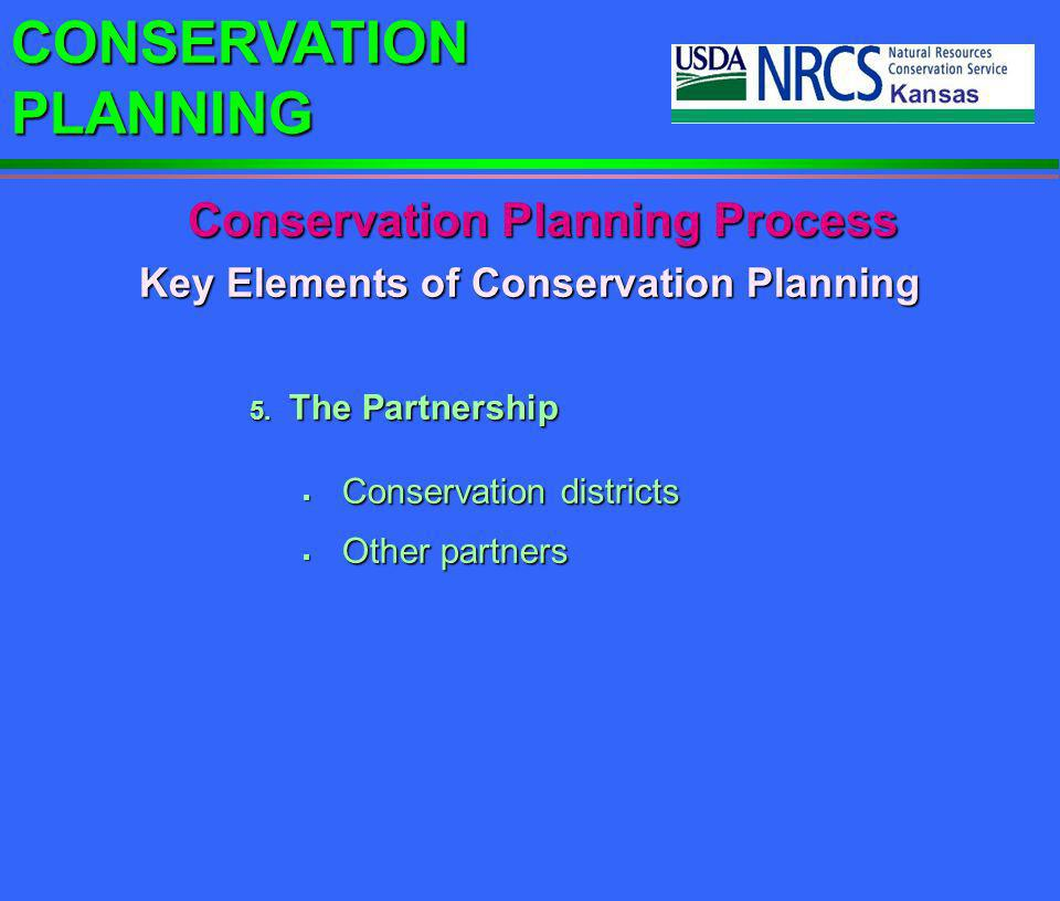 Conservation Planning Process Key Elements of Conservation Planning
