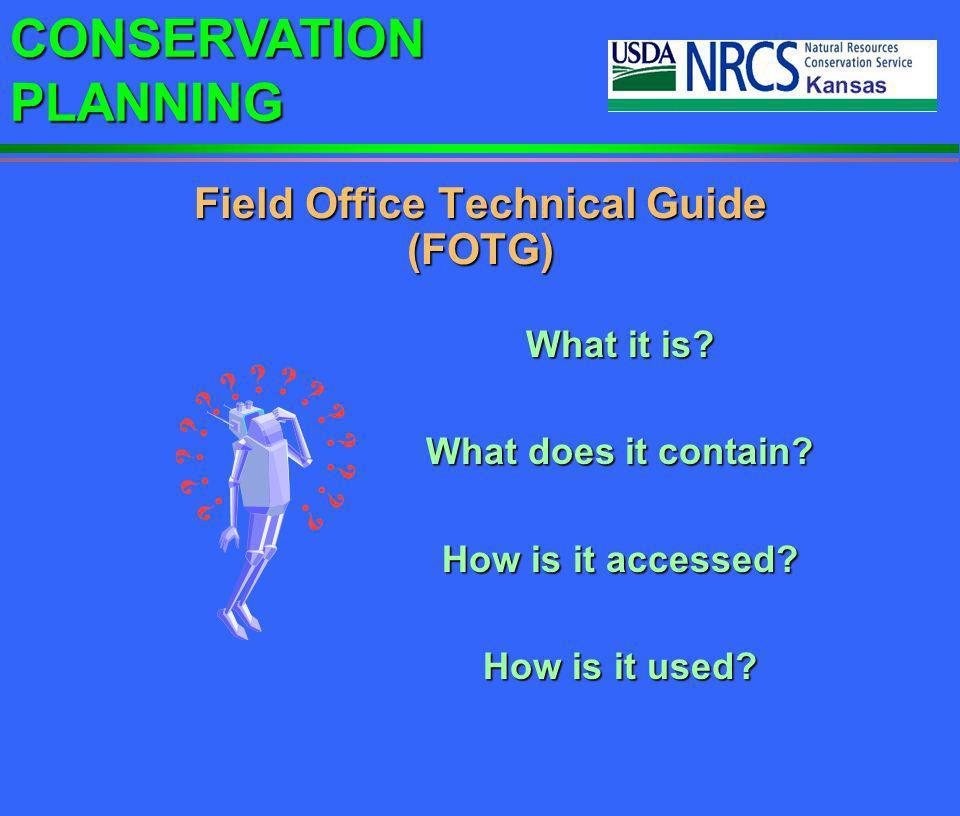 Field Office Technical Guide (FOTG)