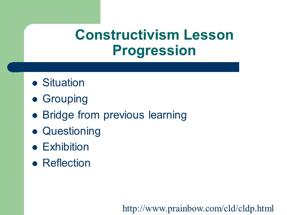 Constructivism Lesson Progression