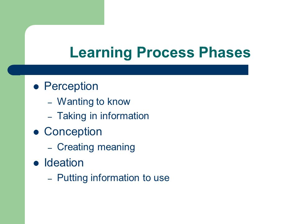 Learning Process Phases