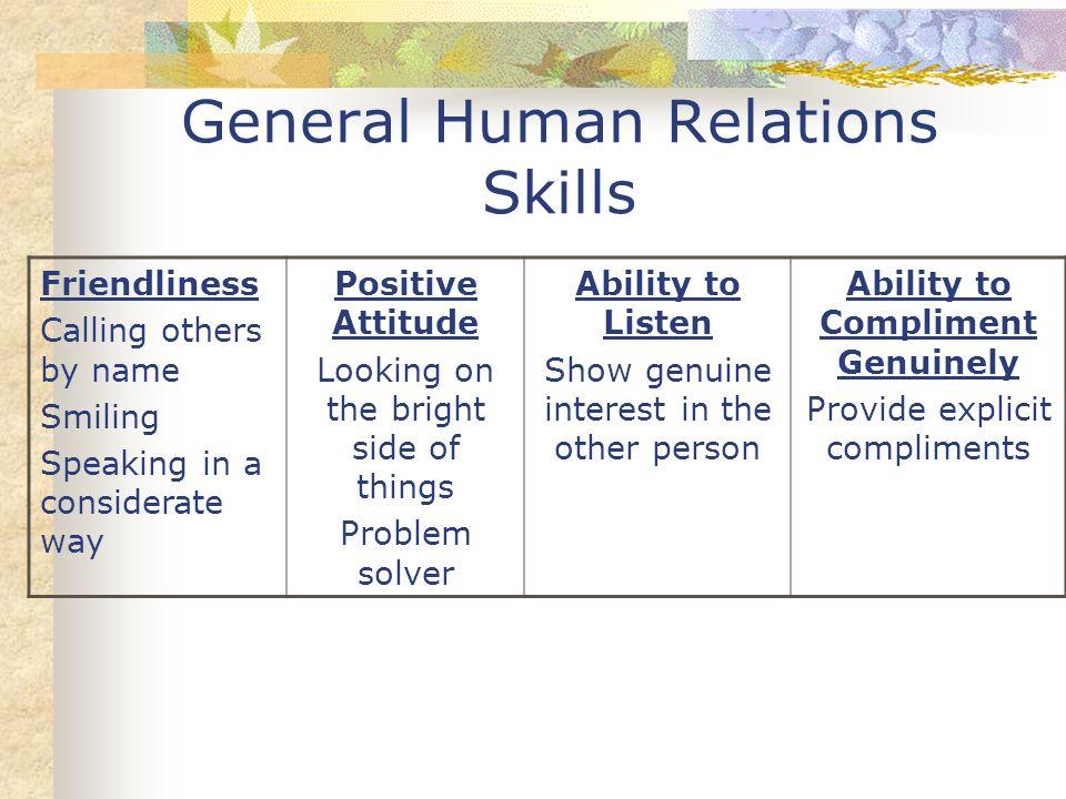General Human Relations Skills