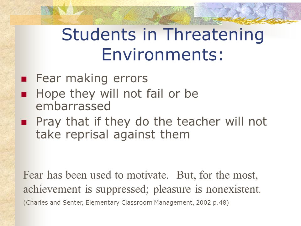 Students in Threatening Environments: