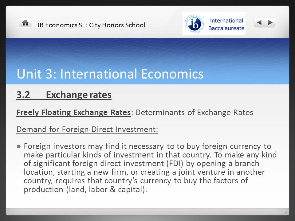 exchange rates ib economics