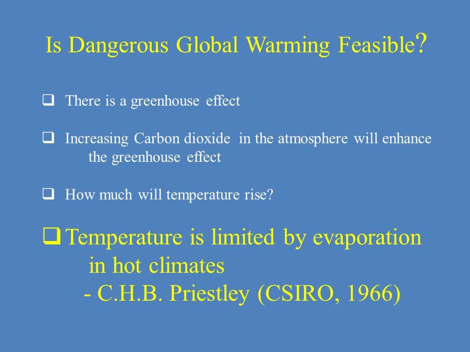 Is Dangerous Global Warming Feasible