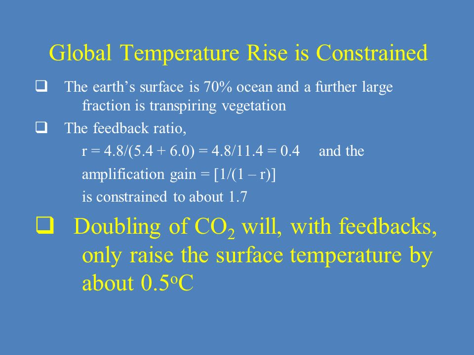 Global Temperature Rise is Constrained