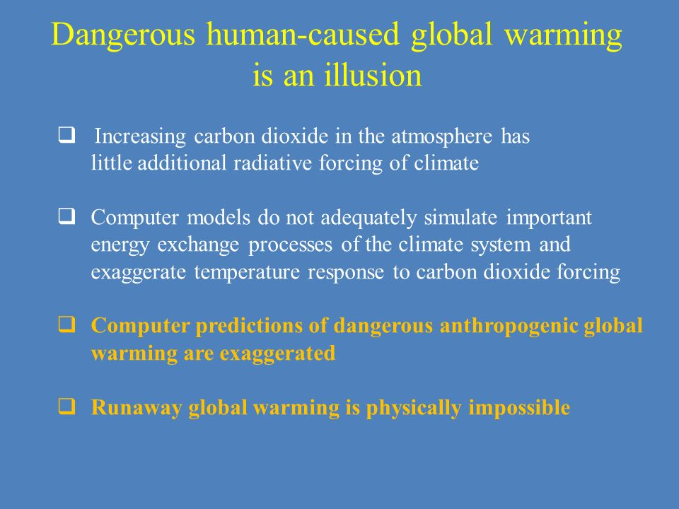 Dangerous human-caused global warming