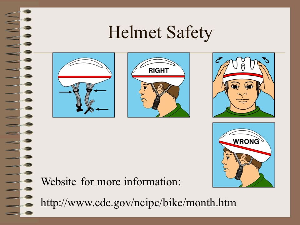 Helmet Safety Website for more information: