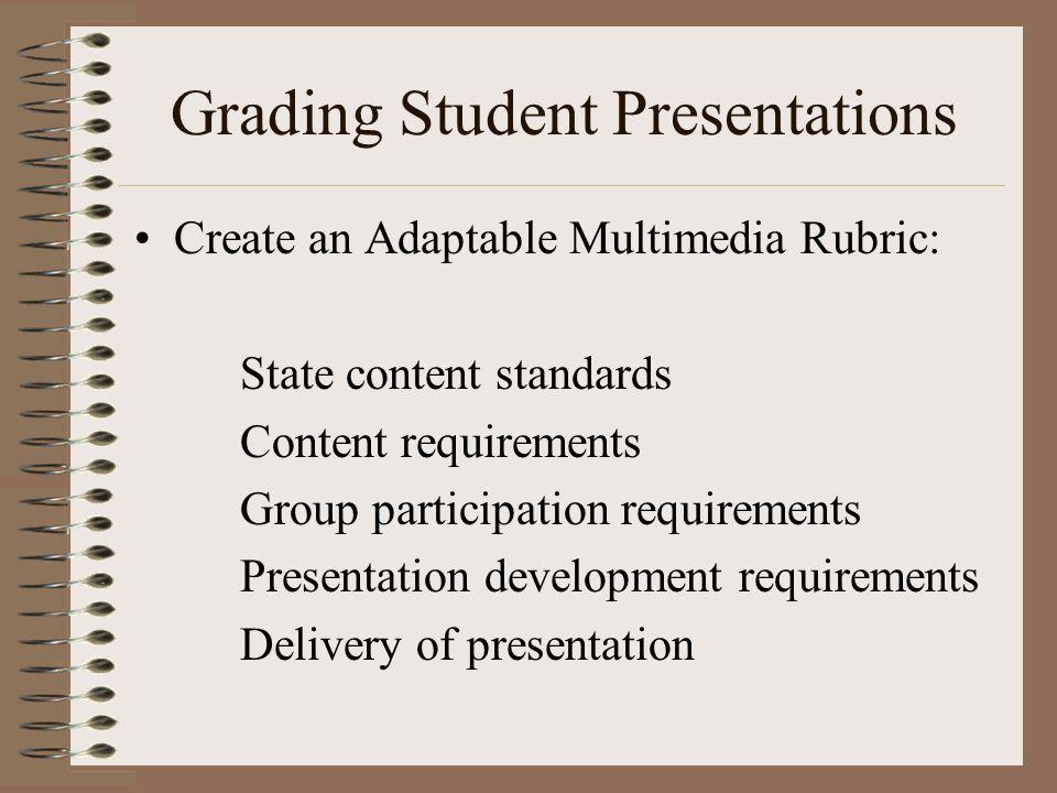 Grading Student Presentations